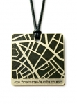 Jerusalem Map Pendant