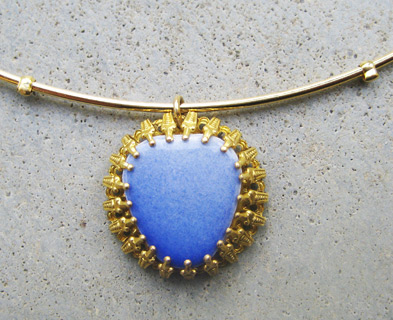 Ceramic Blue Pendant - ta502